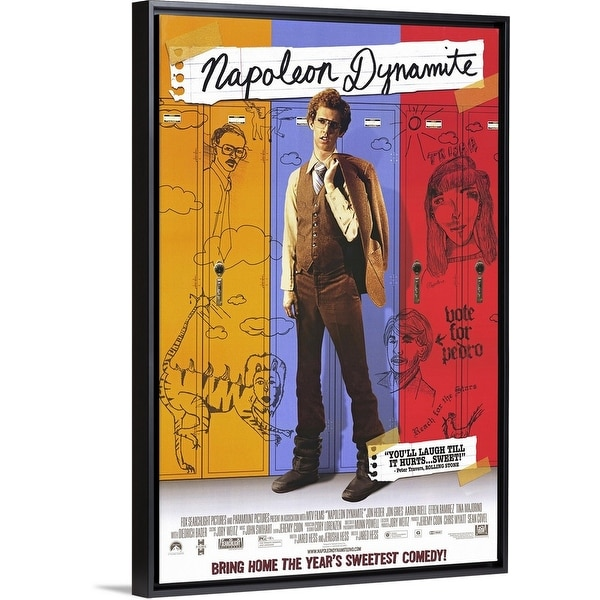 """Napoleon Dynamite (2004)"" Black Float Frame Canvas Art. Opens flyout."