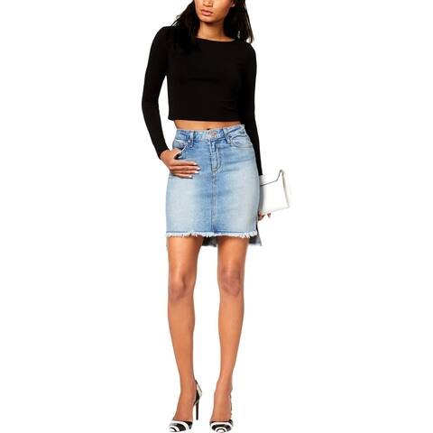 Joe's Jeans Womens Denim Skirt Hi-Low Mini - 27