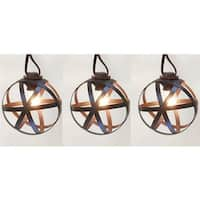 Living Accents  13.5 ft. C7 Bronze Orb Light Set  Clear - 10 Lights