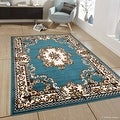 "Allstar Blue Woven High Quality Rug. Traditional. Persian. Flower. Western. Design Area Rug (5' 2"" x 7' 1"") - Thumbnail 0"