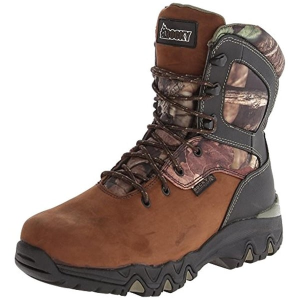 Rocky Mens Work Boots Leather Camouflage