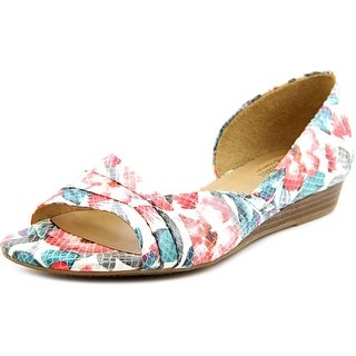 Naturalizer Jenah Women  Open Toe Leather Multi Color Wedge Heel