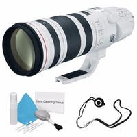 Canon EF 200-400mm f/4L IS USM Lens (International Model) + Deluxe Cleaning Kit + Lens Cap Keeper Bundle
