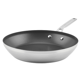 "Link to KitchenAid 3-Ply Base Nonstick 12"" Frying Pan Brushed Stainless Steel Similar Items in Cookware"