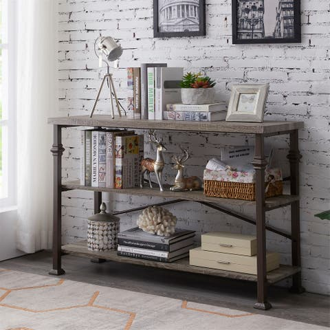 Grey 47-in Industrial Console Table