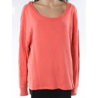 Caslon Coral Pink Womens Size Large L Scoop Neck Cotton Sweater