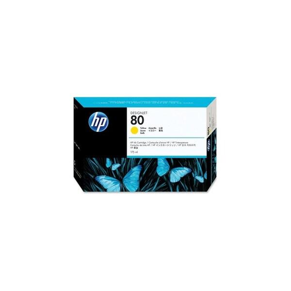 HP 80 175-ml Yellow DesignJet Ink Cartridge (C4873A) (Single Pack)