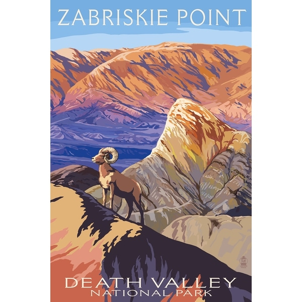 Death Valley CA Zabriskie Point LP Artwork (Art Print - Multiple Sizes)