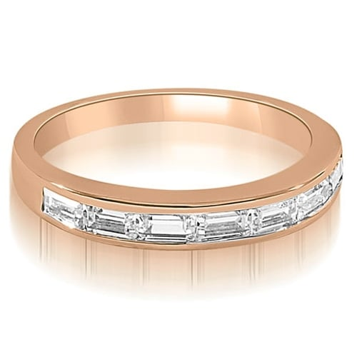 0.70 cttw. 14K Rose Gold 7-Stone Channel Set Baguette Diamond Wedding Band