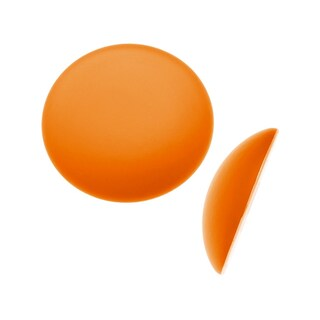 Beadsmith Lunasoft Glowing Lucite Cabochon 18mm Round - Matte Mango Orange (1)
