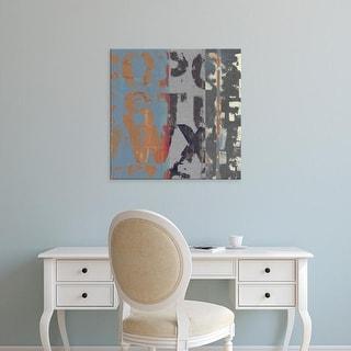Easy Art Prints Vision Studio's 'Alphabet Overlay II' Premium Canvas Art