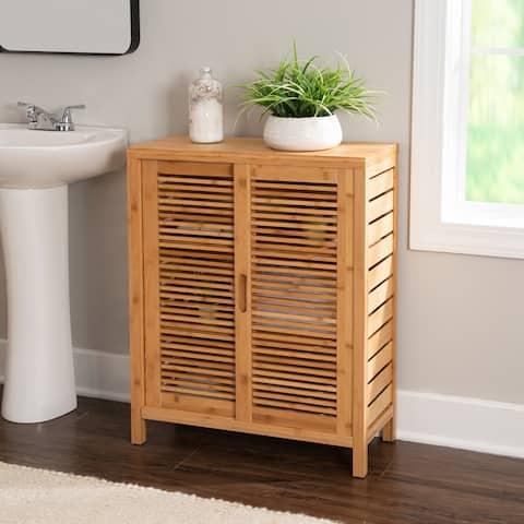 Bracken Bamboo Two Door Floor Cabinet