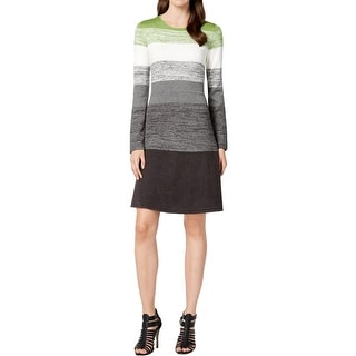 Jessica Howard Womens Sweaterdress Striped Colorblock