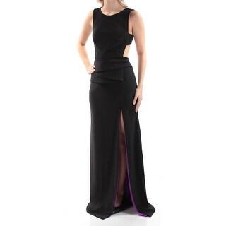 BETSY & ADAM $219 Womens New 1335 Black Slitted Backless Sheath Dress 4 B+B