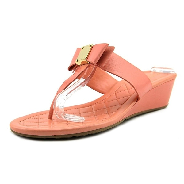 Cole Haan Womens Tali Grand Bow Sandal Leather Open Toe Casual Slide Sandals
