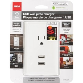 RCA 2.1 Wht 2 Usb/Outlet