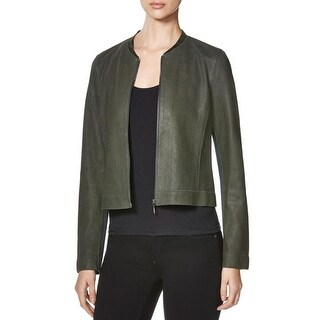 Elie Tahari Womens Cleary Basic Jacket Leather Suede