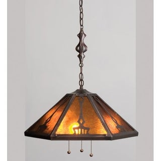 Meyda Tiffany 13226 Craftsman / Mission Down Lighting Pendant from the Grenway Collection