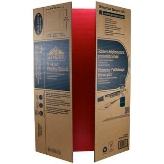"Elmer's Tri-Board Self-Standing Project Display Board 36""X48-Red Box=25, Srp $5.99Ea"