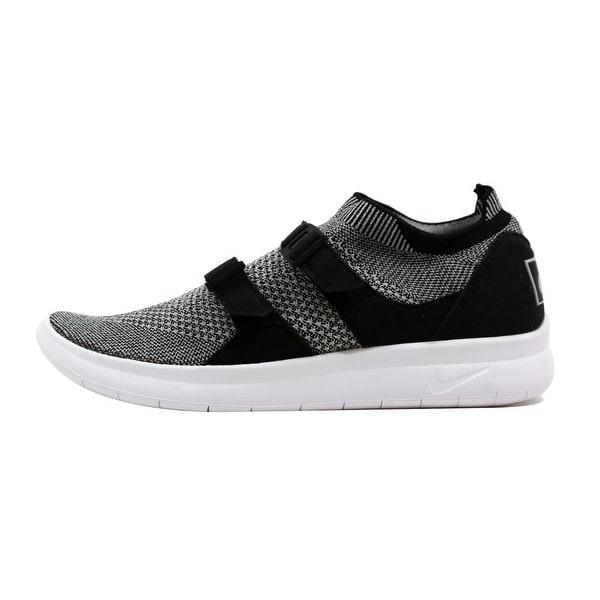ccf1b26f9a3b Shop Nike Men s Air Sockracer Flyknit Black Pale Grey-Black-White ...
