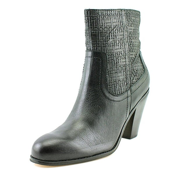 Corso Como Harvest Women Round Toe Leather Black Ankle Boot