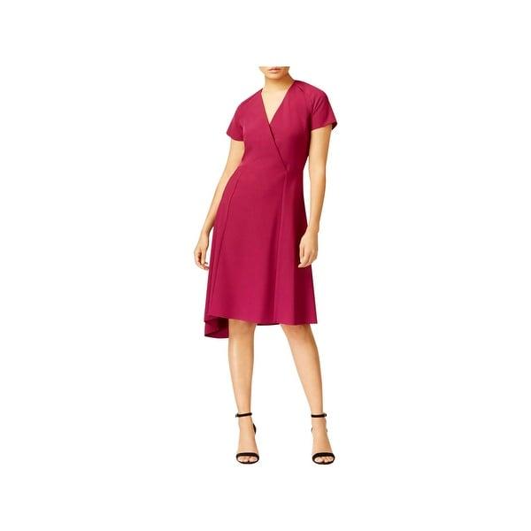 Anne Klein Womens Cocktail Dress Knee-Length Short Sleeves