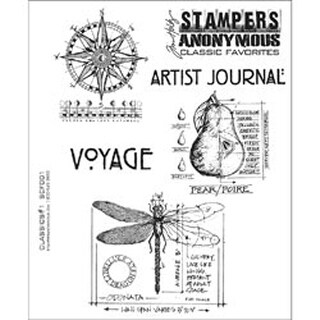 """Classics #1 - Stampers Anonymous Rubber Stamp Set 7""""X8.5"""""""