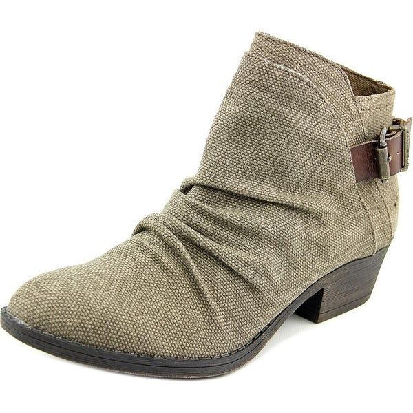 Blowfish Seastie Women Round Toe Canvas Brown Ankle Boot