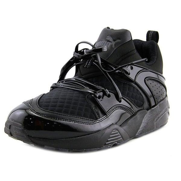 Puma Blaze of Glory x Meek Bike Life Men Round Toe Canvas Black Sneakers