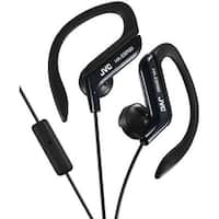 Jvc  Sport-Clip In-Ear Headphones With Microphone and Remote - Black
