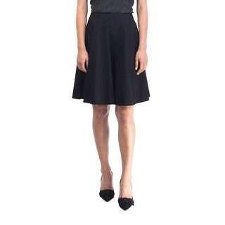 Prada Women's Viscose Nylon Blend Skirt Black