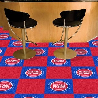 NBA - Detroit Pistons 18 Inches x 18 Inches Carpet Tiles