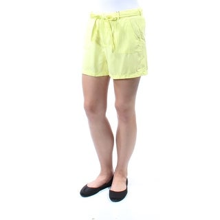 Womens Yellow Casual Short Size 8