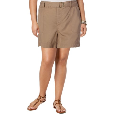 Lauren Ralph Lauren Womens Casual Shorts Woven Belted
