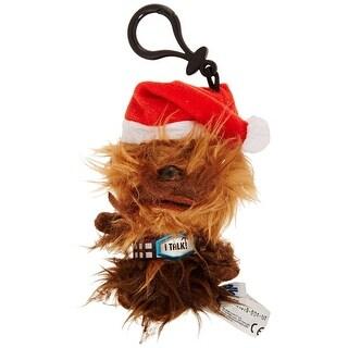 """Star Wars 4"""" Mini Talking Plush Clip-On: Santa Chewbacca"""