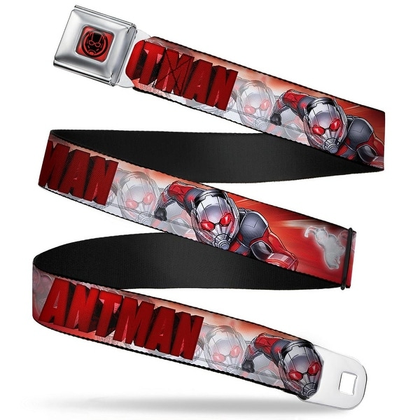 Marvel Avengers ant Man Face Icon Full Color Red Black Antman Pym Growth Seatbelt Belt
