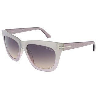 Tom Ford FT0361/S 80B Celina Silver Pearl Square Sunglasses