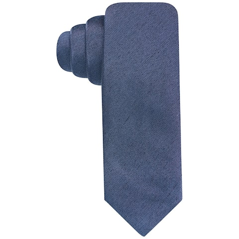 Alfani Mens Dress Self-tied Necktie, blue, One Size - One Size