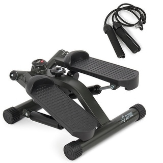 Akonza Portable Fitness Twister Stepper with (2) Resistance Cords, LCD Display Screen