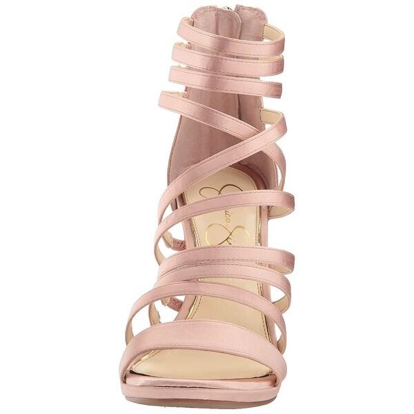 Jessica Simpson Womens JS-PALKAYA Open Toe Ankle Wrap Classic Pumps