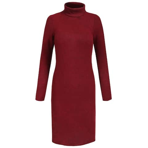 NE PEOPLE Womens Casaul Turtleneck Long Sleeve Sweater Dress [NEWDR98]