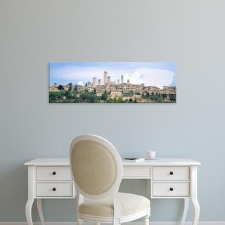 Easy Art Prints Panoramic Images's 'San Gimignano Italy' Premium Canvas Art