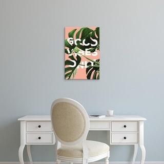 Easy Art Prints 'Good Vibes Only' Premium Canvas Art