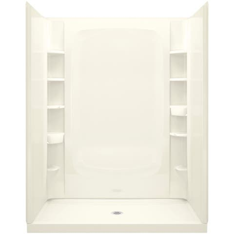 """Sterling 72330100 STORE+ Vikrell 60"""" x 34"""" x 77"""" Shower Kit with Integrated and Removable Storage"""