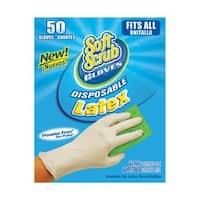Soft Scrub 11350-16 Disposable Latex Gloves, Box-50