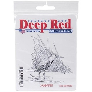 Deep Red Stamps Sandpiper Rubber Cling Stamp - 3 x 3.1