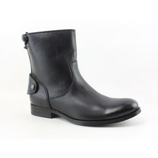 74e7ac23cb2 Frye Womens Melissa Button Zip Short Black Fashion Boots Size 6