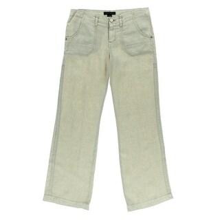 Sanctuary Womens Linen Wide Leg Casual Pants