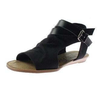 Blowfish Womens Balla Flat Sandals Canvas Belted