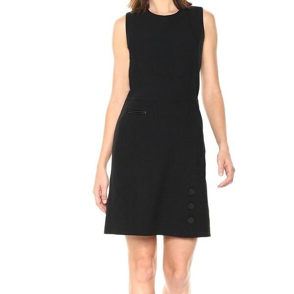 Anne Klein Black Womens Size 10 Crepe Fit & Flare A-Line Dress
